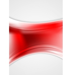 Red abstract wavy background vector
