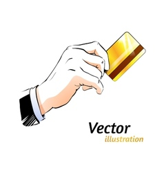 Plastic card vector