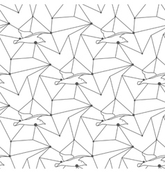 Seamless seagull pattern tile background geometric vector