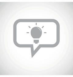 Light bulb grey message icon vector