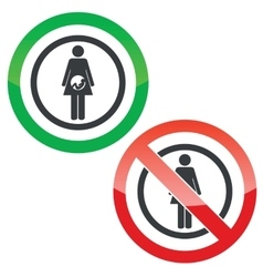 Pregnancy permission signs vector