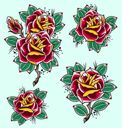 Rose set vector