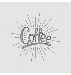 Coffee lettering vector