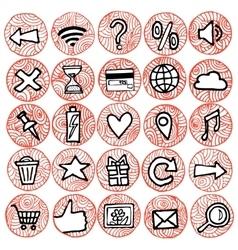 zentangle icons set hand vector image