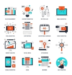 Digital marketing icons vector