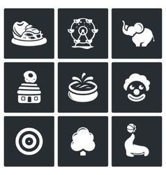 Amusement icons vector