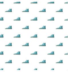 Blue boot pattern vector