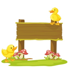 board and duck vector image vector image