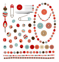 Buttons and beads vector