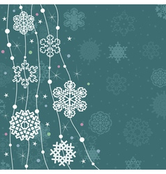 Christmas snow vector image vector image