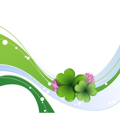 Clover leaves and flowers vector