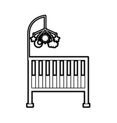 cot baby shower toy mobile furniture infant vector image