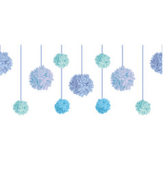 Dangling blue bay boy birthday party paper vector