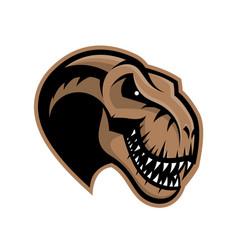 Dinosaur head sport club logo concept vector
