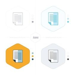 document icon paper 4 design vector image
