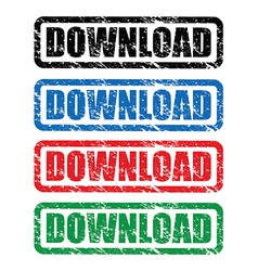 download stamp vector image vector image