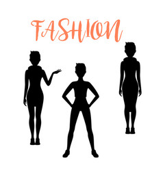 fashion woman silhouettes in different poses vector image