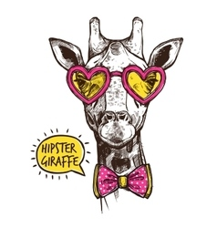 Hipster Animal Poster vector image vector image