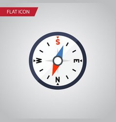 isolated divider flat icon compass element vector image