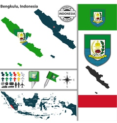 Map of bengkulu vector