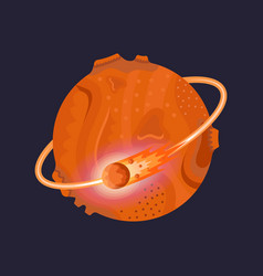 mars icon on dark background vector image
