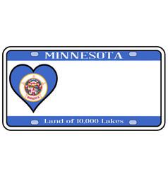 Minnesota license plate vector
