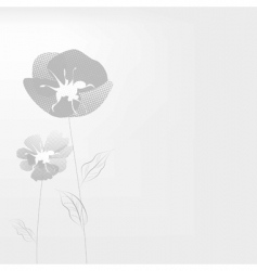 monochrome illustration with poppy flowers vector image vector image