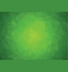 polygonal green background vector image vector image