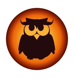 Poster halloween party owl design isolated vector