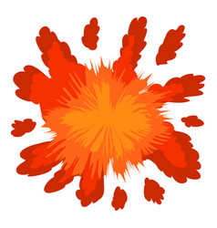 Red explosion icon cartoon style vector