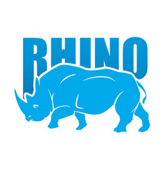 rhino mascot vector image