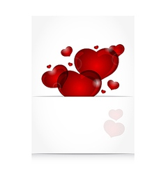 romantic letter with cute hearts - vector image