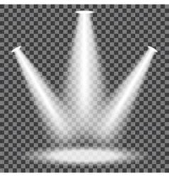 Stage spotlights set vector image