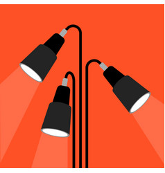Three lamps icon flat style vector