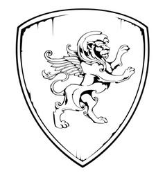 Vintage lion vector