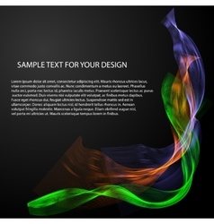 Abstract background with color waves on vector image