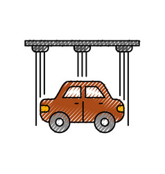 Service center car water washing clean icon vector