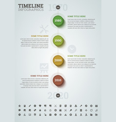 Timeline infographic with icons vector