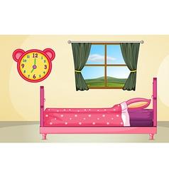 Bedroom setting vector image