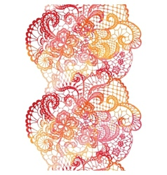 Lacy elegant watercolor border Lacy vintage trim vector image
