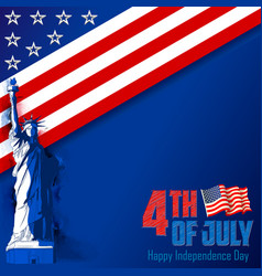 4th of july independence day of america background vector image
