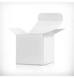 White carton box vector