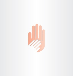 Human hand icon element vector