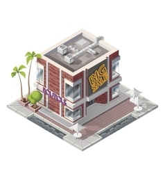 Isometric butique building vector