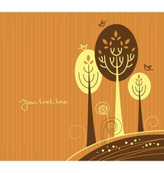 autumn cartoon vector image