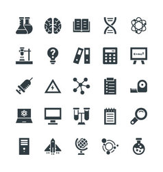 Science and Technology Cool Icons 3 vector image