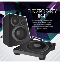 Speaker icon electro party design graphic vector