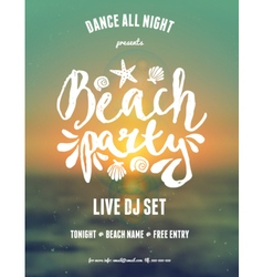 Abstract design gradient mesh beach party flyer vector