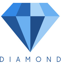 abstract icon design template of diamond vector image