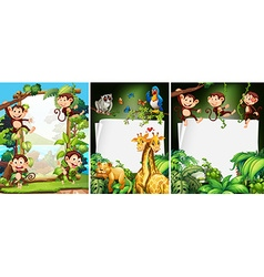 Banner design with wild animals vector image